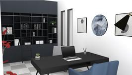 Bureau Designer sur mesure - Vue 3D realiste