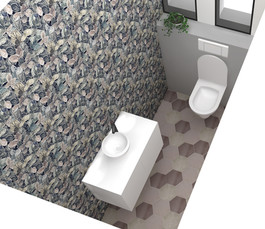 WC - Designer sur mesure - Fleuri