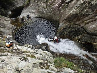 Toboggan canyoning bassin