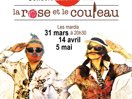 La Rose et le Couteau. Concert Live latino alternatif à la Comédie Nation à Paris le 31 Mars 2020
