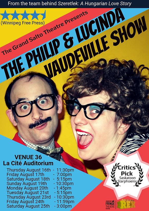 POSTERPhilip&Lucinda_vaudeville_show_the