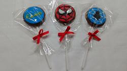 Pirulitos de Chocolate - Homem Aranha