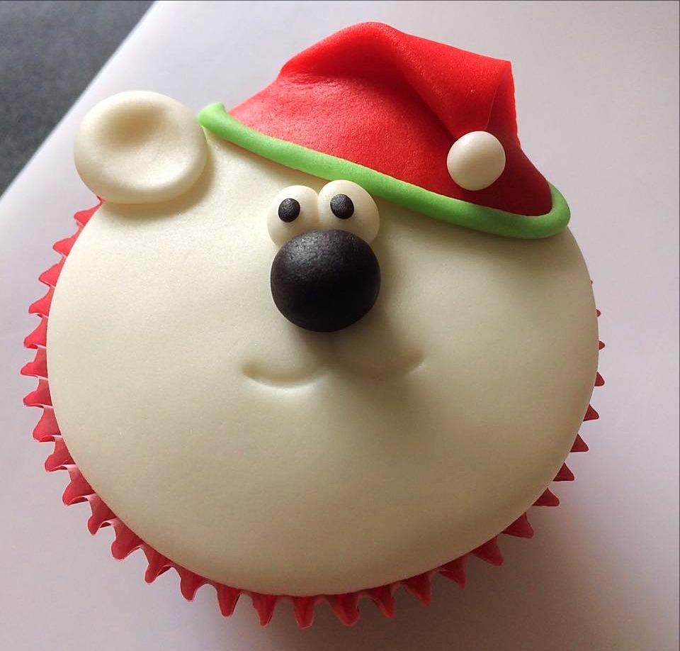 Cupcake Natalino - Urso Polar