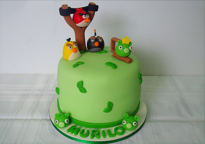 Bolo Decorado Angry Birds