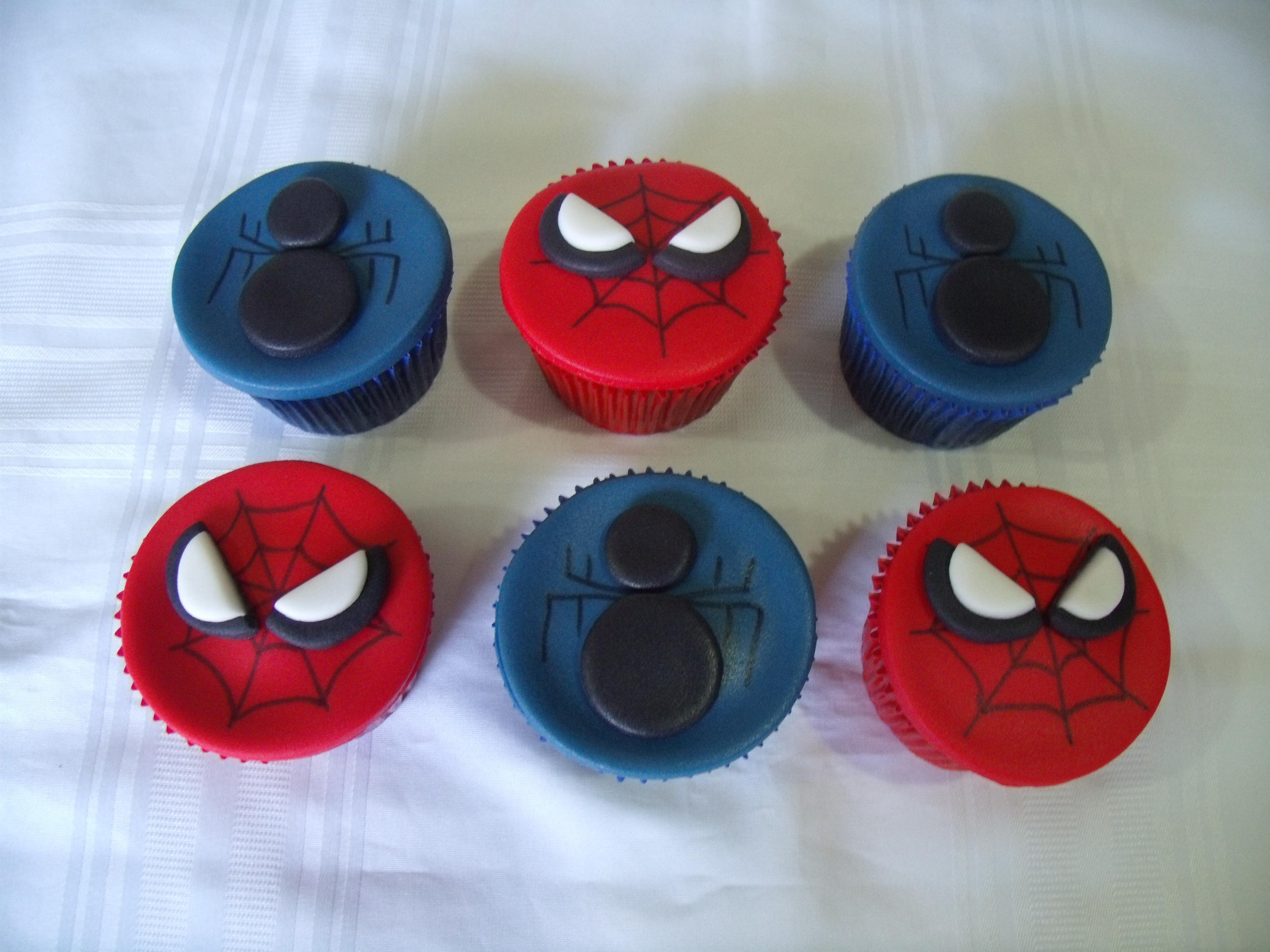Cupcakes Homem Aranha