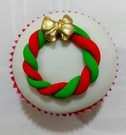 Cupcake Natalino - Guirlanda