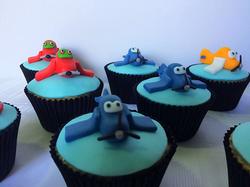 Cupcakes - Aviões - Azul
