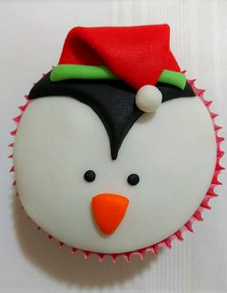 Cupcake Natalino - Pinguim