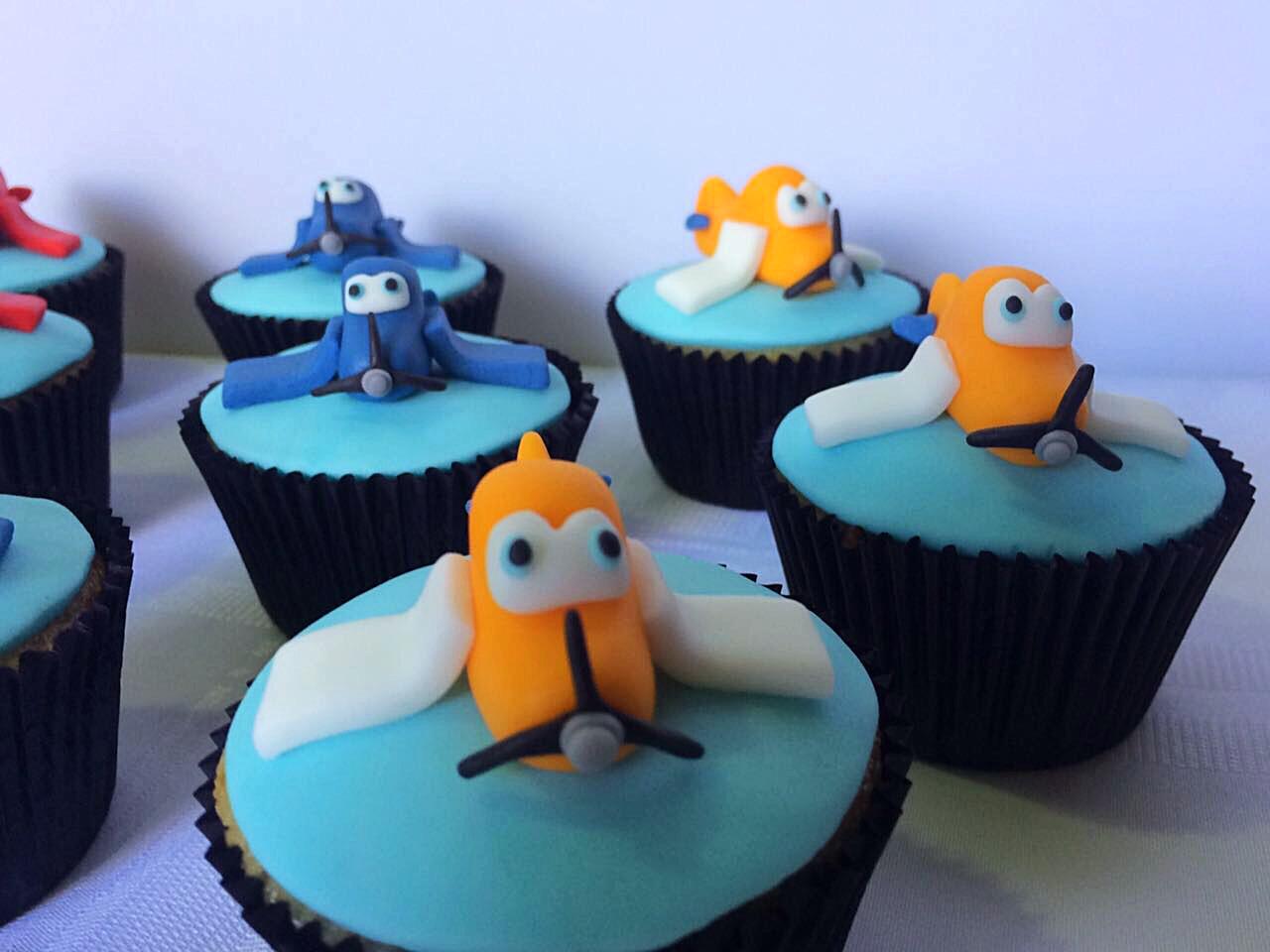 Cupcakes - Aviões - Laranja