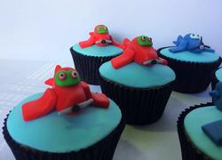 Cupcakes - Aviões - Vermelho