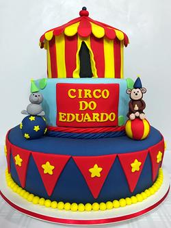 Bolo Decorado Circo do Eduardo