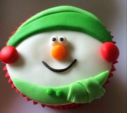 Cupcake Natalino - Boneco de Neve