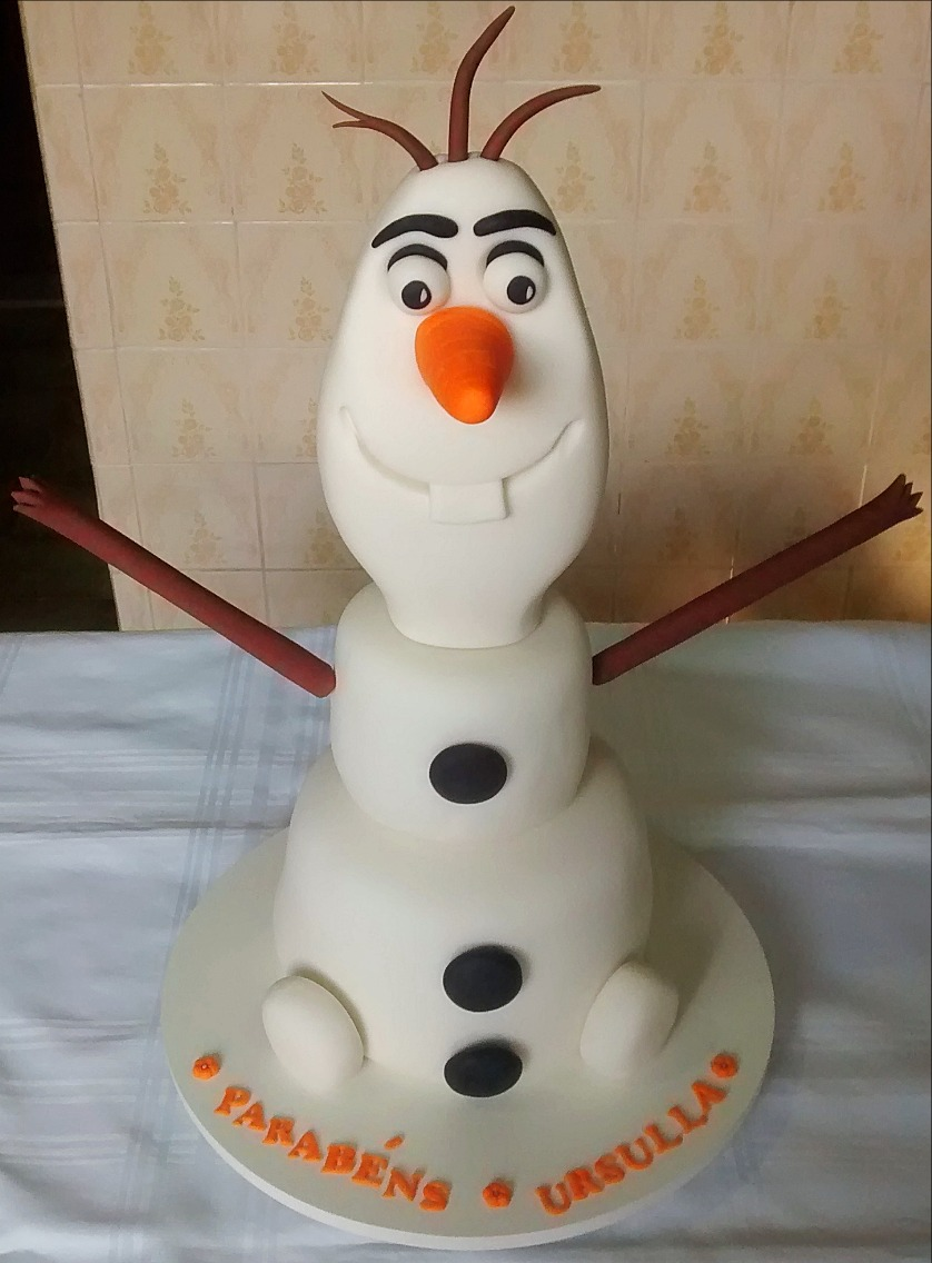 Bolo Decorado Olaf