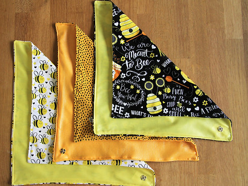 Bee food wraps - set of 3 (with Sun Yellow dots)