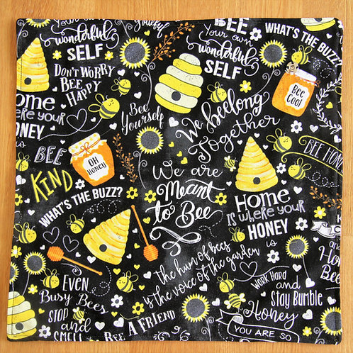 Busy Bees chalk words food wrap