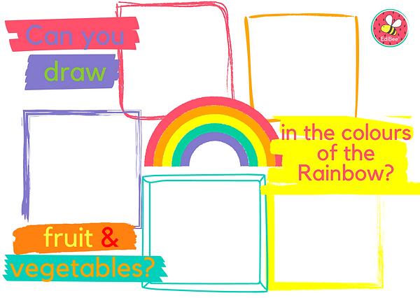 Rainbow food challenge draw fruit and ve
