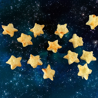 cheesy puff pastry stars christmas snack