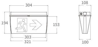 Modula Eco IP65 Exit Sign Dimensions.JPG