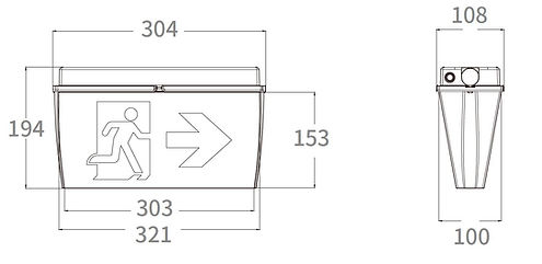 Modula Eco IP65 Exit Sign Dimensions.JPG
