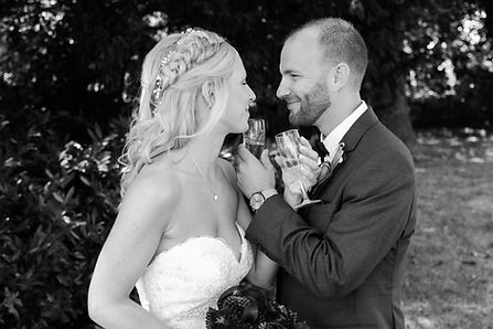 Hayley & Liam on their Wedding day at Quinton House School, Northampton