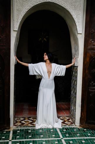 Jo wearing Charlie Brear in Marrakech