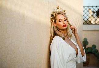 Sophie wearing Charlie Brear in Marrakech