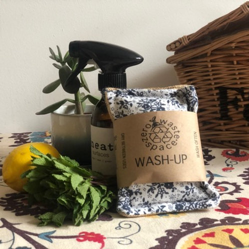 2x  pack of Wash -up Sponge/Scourers by Zero Waste Space