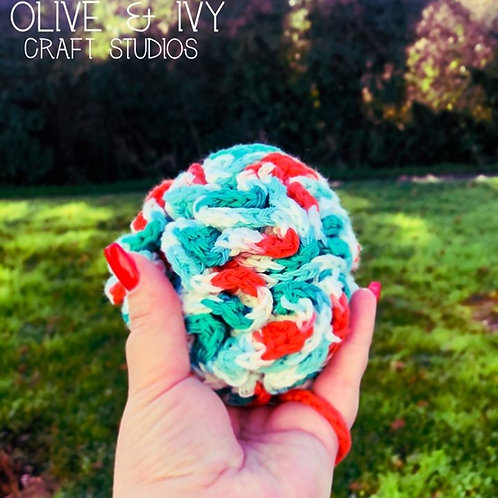 Crochet Organic Wool Shower Puff by Vanessa Bunting