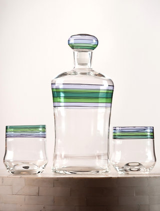 Whiskey Decanter & Two Glasses