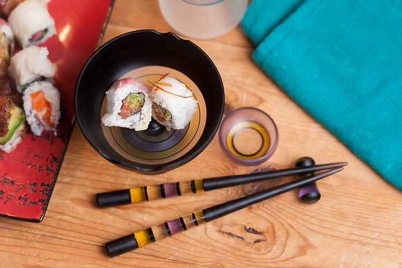 Rice Bowl & Sushi Set in CFL Reactive Glass