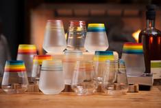 Custom set of 1 dozen Spectrum goblets