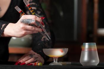 Full Spectrum sushi set and goblet