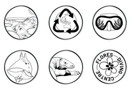 Flores Diving Centre Icons