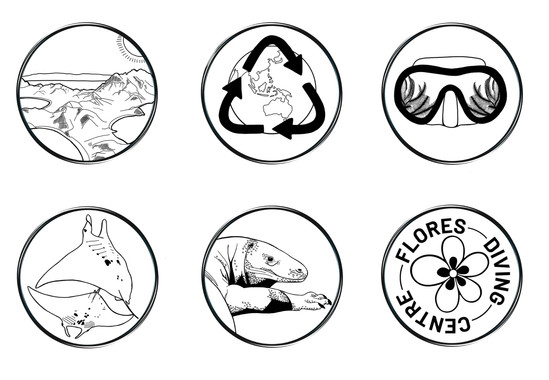 Flores Diving Centre Icons