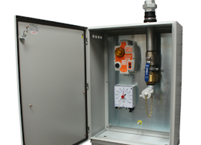 """Fuel Tank Remote Fill Point Cabinet -2"""" Top Entry"""