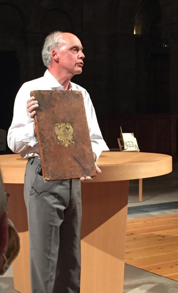 présentation de Livres de Fête au Temple Neuf à Strasbourg