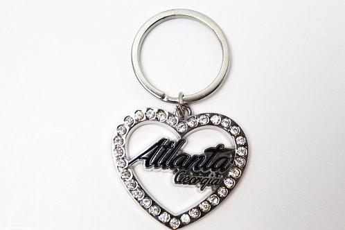 Atlanta Heart Bling Keychain