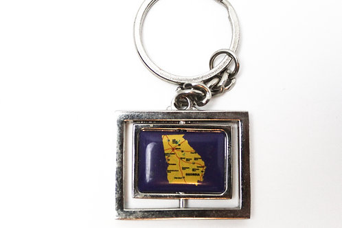 Georgia Map Keychain