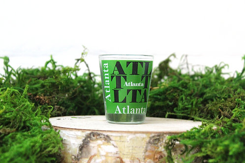 Green Based Atlanta Shot Glass