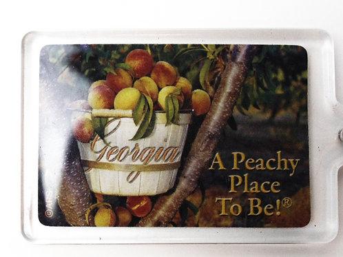 Peachy Place Keychain