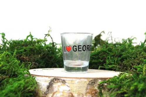 I Heart Georgia Shot Glass