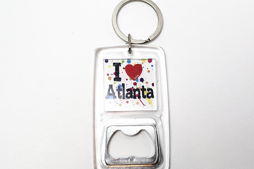 I Love Atlanta Bottle Opener Key Chain