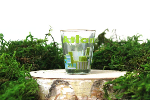 Atlanta Green Shot Glass