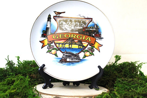 Georgia Banner Souvenir Plate