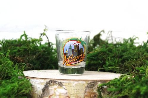 City in a Peach Shot Glass