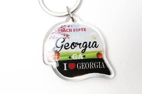 Georgia Hat Keychain
