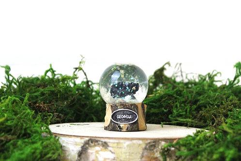 Georgia Black Bear Snow Globe
