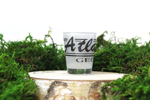 ATLANTA GA Black Shot Glass