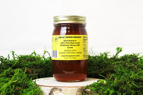Raw Wildflower Honey with Comb