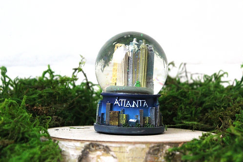 Blue Atlanta Snow Globe